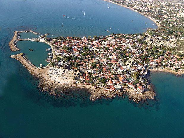 Панорама города Сиде, Турция